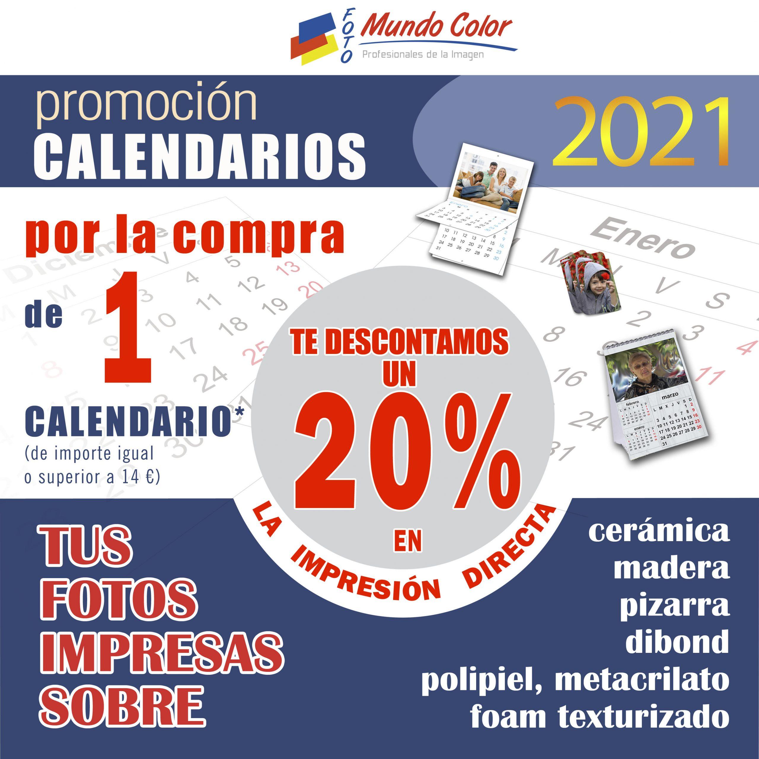 Promoción calendarios personalizados 2021